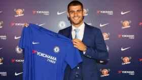 La presentación de Morata con el Chelsea. Foto chelseafc.com