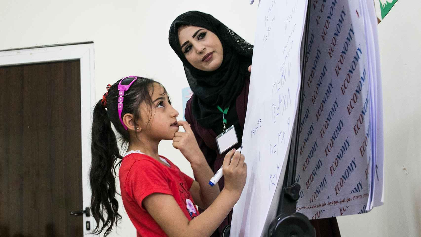 En el centro de Alianza por la Solidaridad en Mafraq