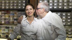 Elena Arzak con su padre, José Mari.