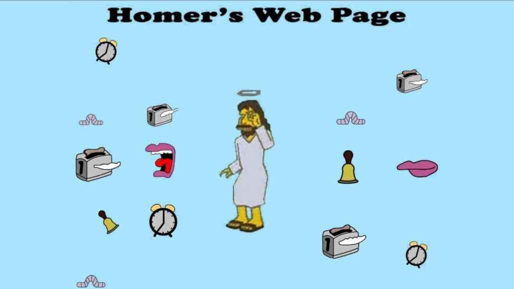 La página web de Homer Simpson