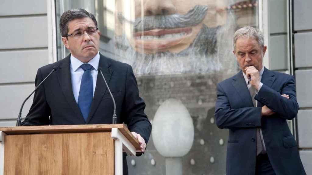 Sevillano, gerente de la Fundación Gala-Dalí, en la rueda de prensa tras la exhumación.
