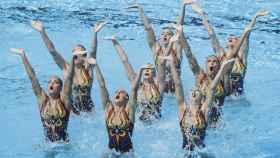 El equipo ruso de natación sincronizada.