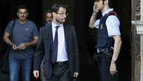 El fiscal Anticorrupción José Grinda, el jueves pasado saliendo del Palau de la Generalitat.