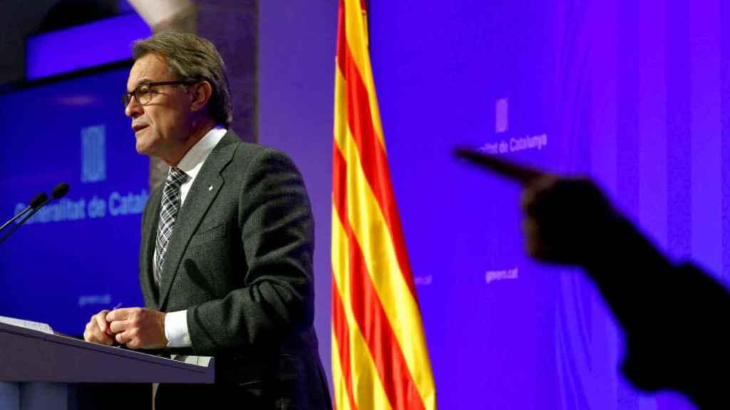 El expresidente Artur Mas durante una rueda de prensa.