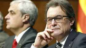 El expresidente Artur Mas junto al exconsejero Germà Gordó.