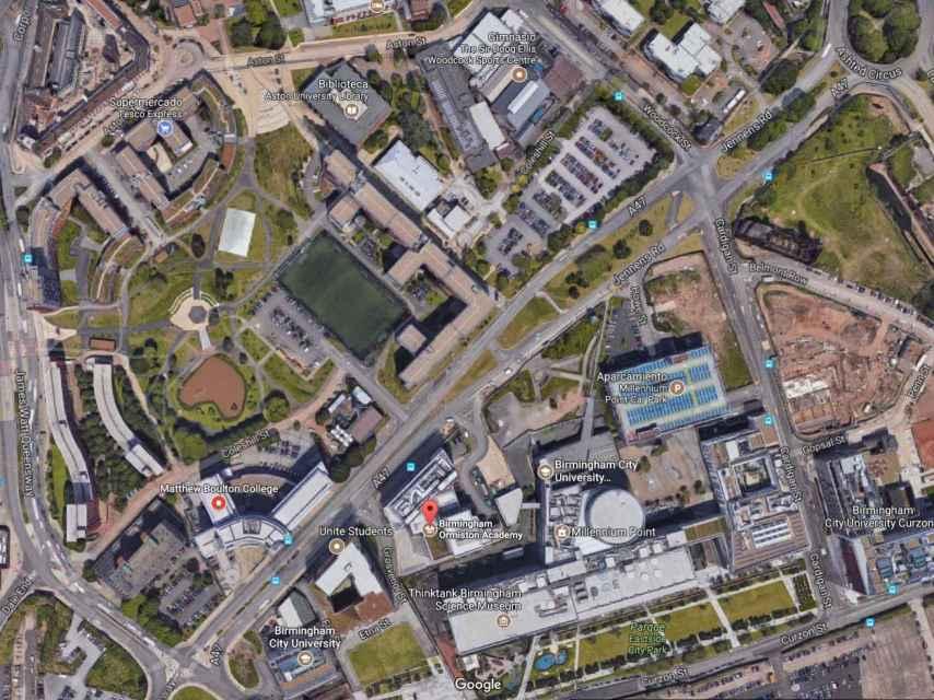 imagen que capta la extensión de los diversos campus de la universidad.