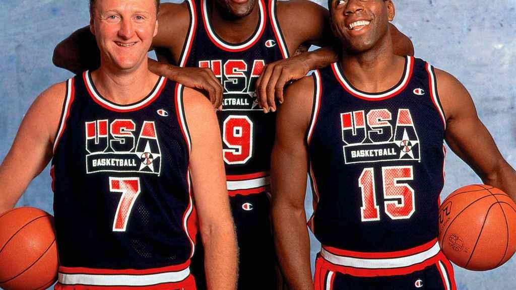 Larry Bird, Michael Jordan y Magic Johnson.