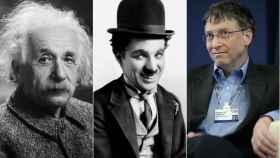 Albert Einstein, Charles Chaplin y Bill Gates, zurdos y mentes geniales.