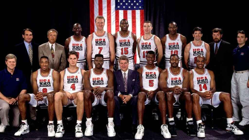El Dream Team del 92 al completo.