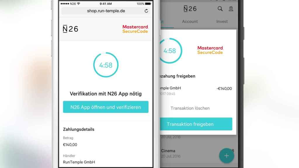 El banco móvil introduce la primera integración nativa en app de Mastercard SecureCode.