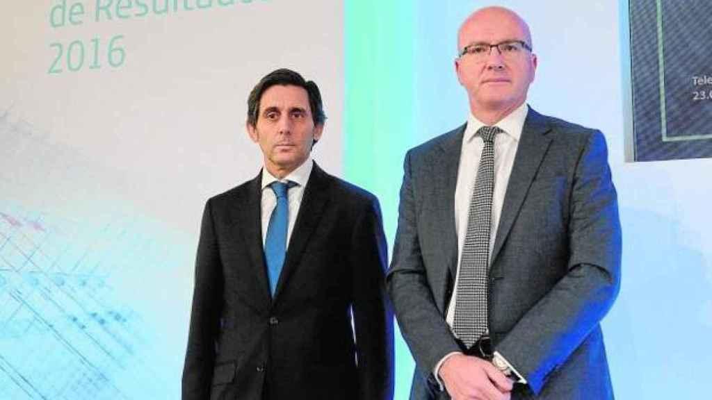 José María Álvarez-Pallete, presidente de Telefónica, y su consejero delegado, Ángel Vilá