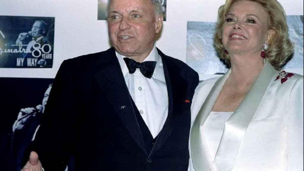 Frank y Barbara Sinatra en una imagen tomada en 1995 en Los Ángeles.