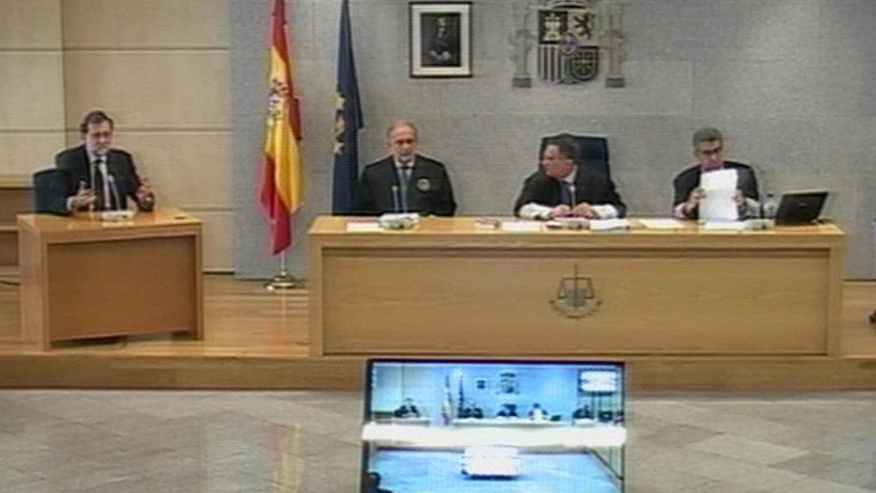 Rajoy, en un momento de su declaración.