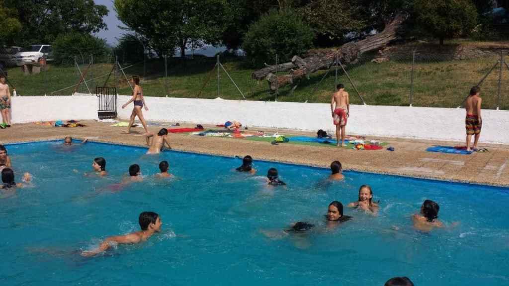La piscina del Palacio de la Bouza