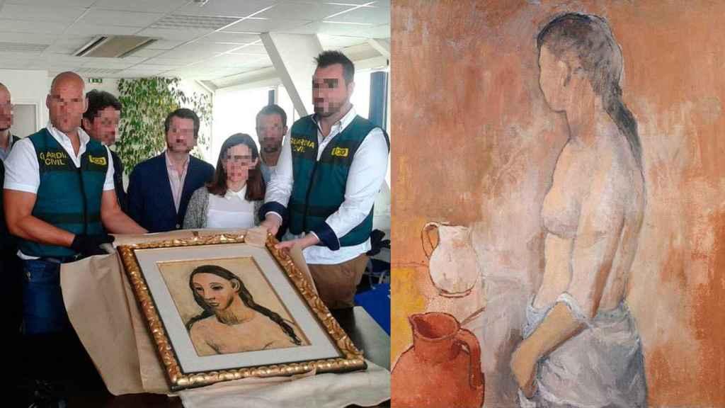 Las dos pinturas de Picasso, hechas en Gósol, propiedad de Botín y Koplowitz.