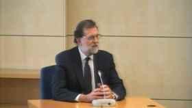 Rajoy durante su declaración como testigo en el juicio de Gürtel