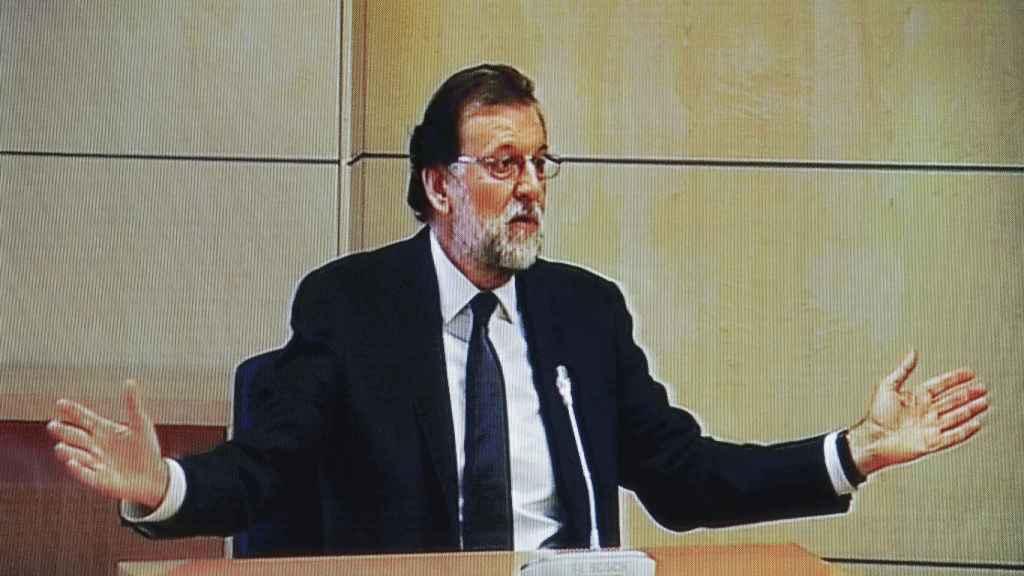 El presidente del Gobierno, Mariano Rajoy, en la Audiencia Nacional este miércoles.