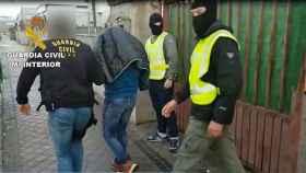 Momento de la detención del joven marroquí