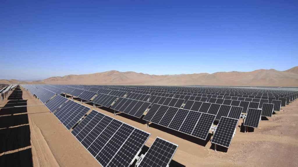 Imagen de un parque fotovoltaico.