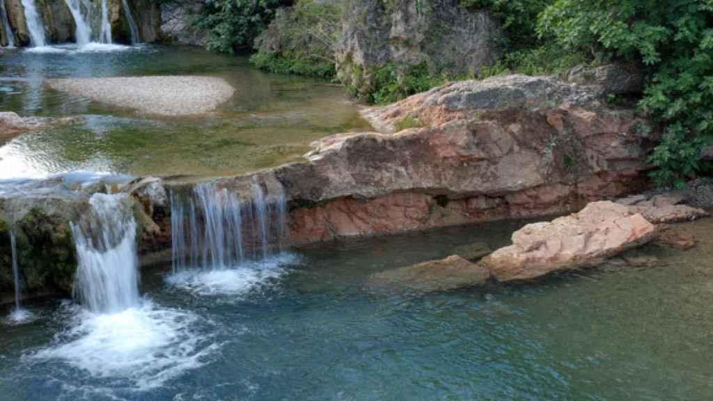 La zona de baño del río Bellós.