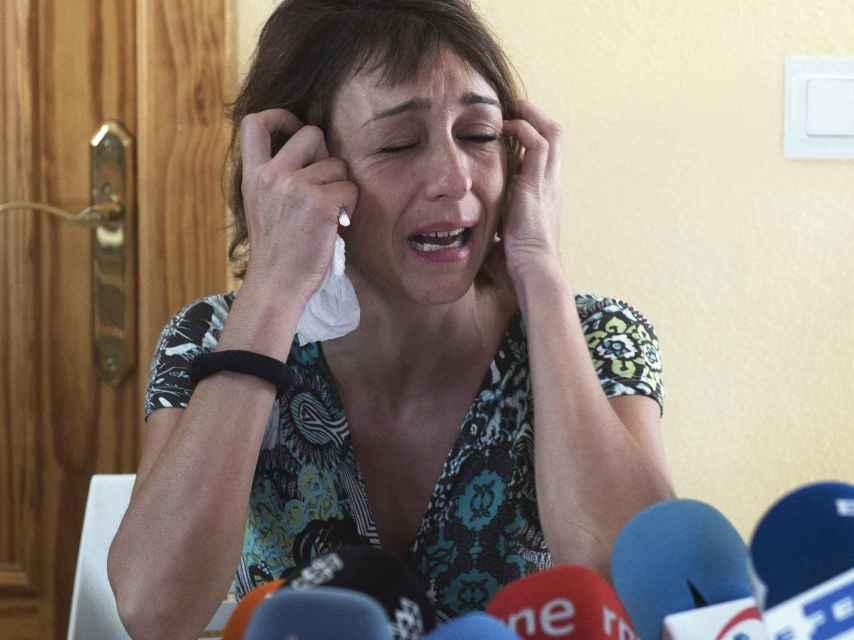 Juana Rivas dio una rueda de prensa este martes avanzando que no entregaría a sus hijos.
