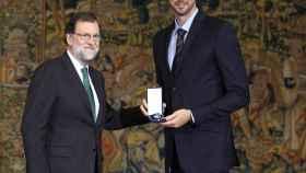 Mariano Rajoy en la entrega de la medalla a Pau Gasol