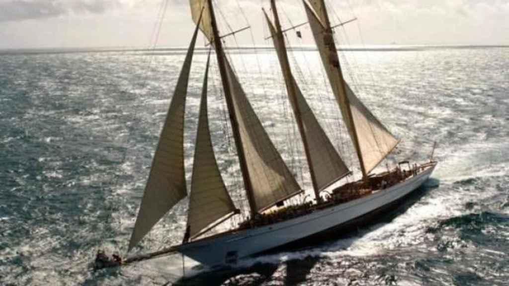 El velero 'Adix' propiedad de Jaime Botín en el que viajaba el cuadro de Picasso