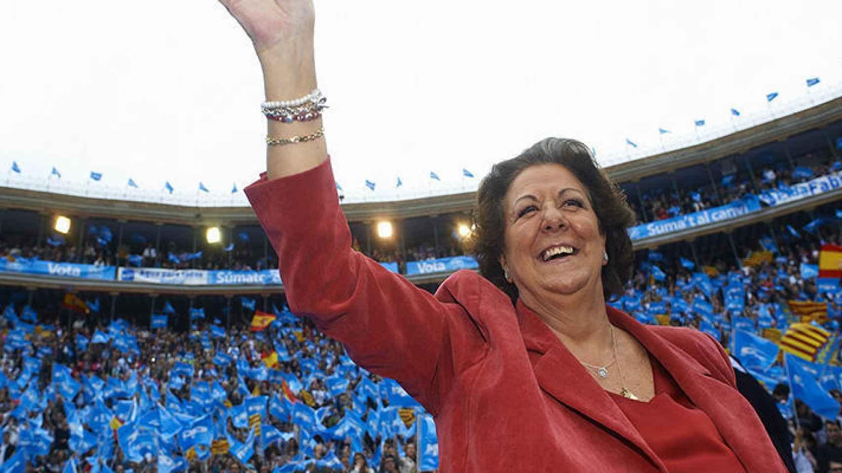 Rita Barberá, en un mitin del PP.