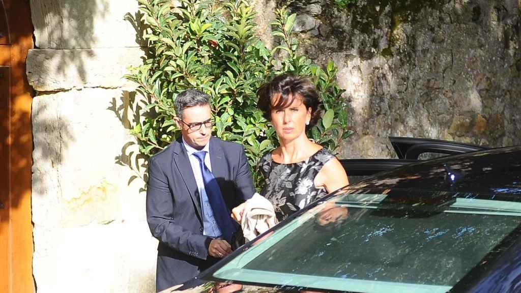 Jaime Botín tiene cinco hijos. En la imagen, su hija Lucrecia durante la boda de Felipe Morenés Botín y Julia Puig en Carriazo, Cantabria (2016).