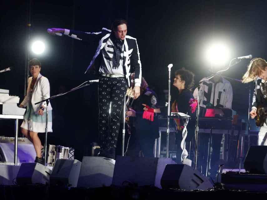 Arcade fire durante un concierto.