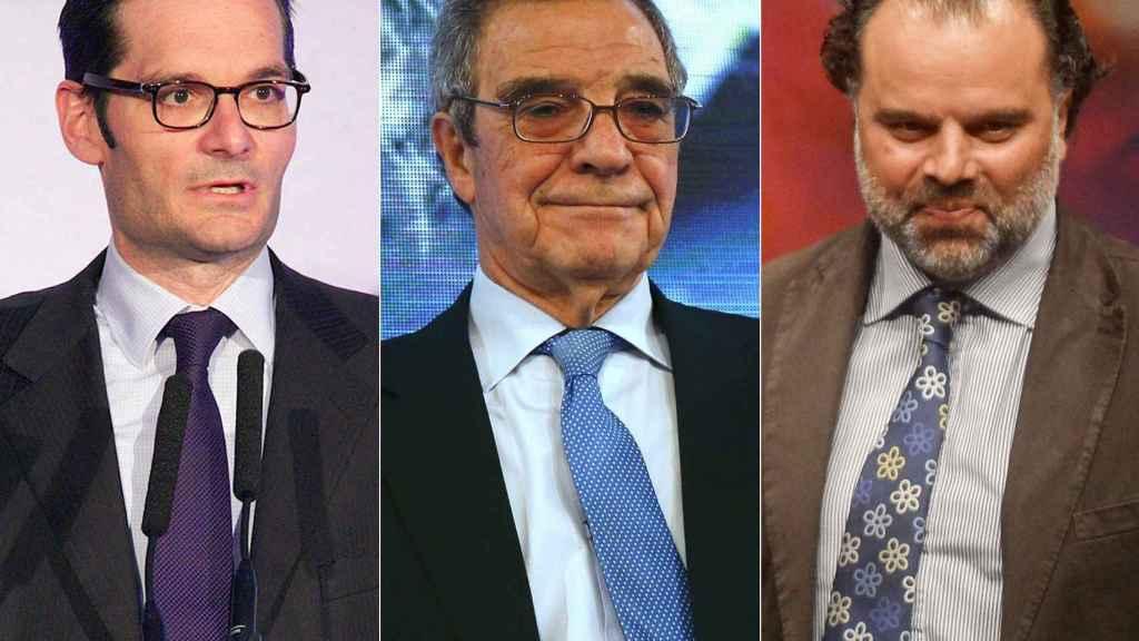 De izquierda a derecha: Joseph Oughourlian, César Alierta y Fernando Yarza López-Madrazo.