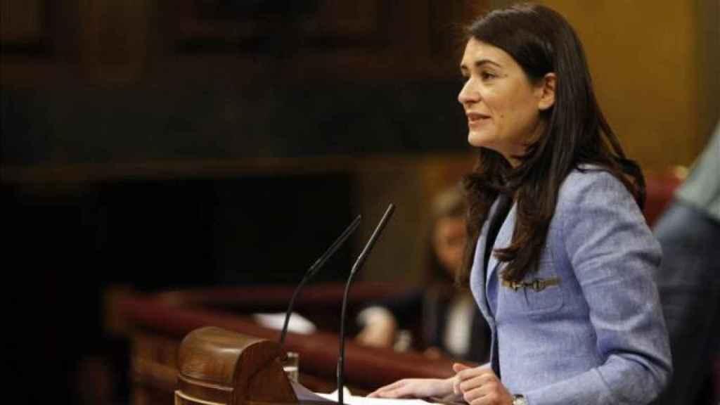 Carmen Montón, consellera de Sanidad de la Comunidad Valenciana, en el Congreso de los Diputados.