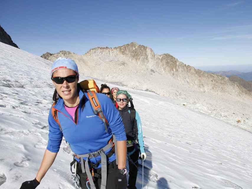 Edurne Pasaban en plena expedición.