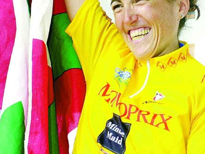 Joane Somarriba en uno de los Tour que ganó.