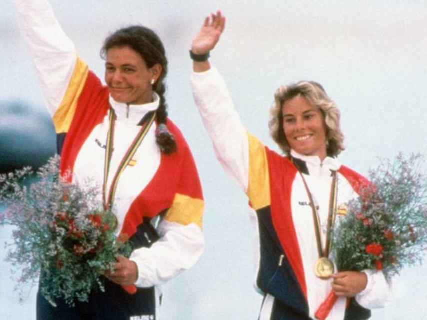 Patricia Guerra y Theresa Zabell, campeonas olímpicas en el 92.