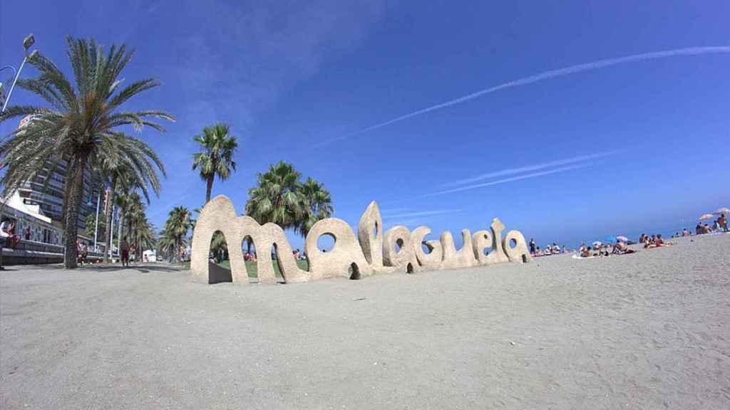 La popular playa de La Malagueta recibirá a millones de turistas en 2017.