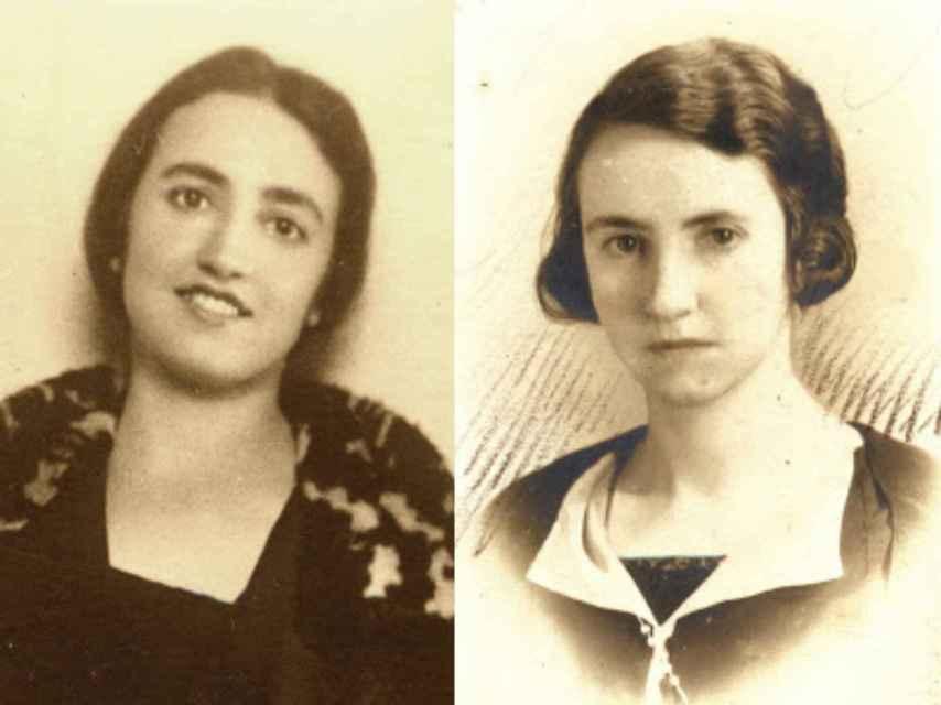 Jimena (izquierda) y Elisa (derecha) Fernández de la Vega.