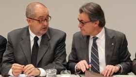 El exconseller Felip Puig, junto al expresidente catalán Artur Mas.
