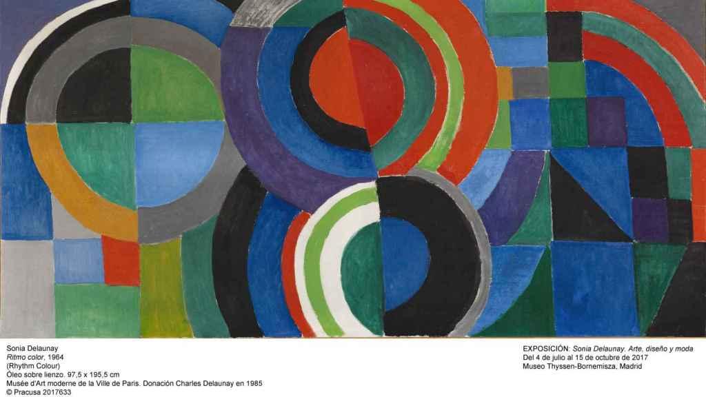 Pintura Ritmo de Sonia Delaunay (1964). | Foto cortesía Museo Thyssen-Bornemisza.