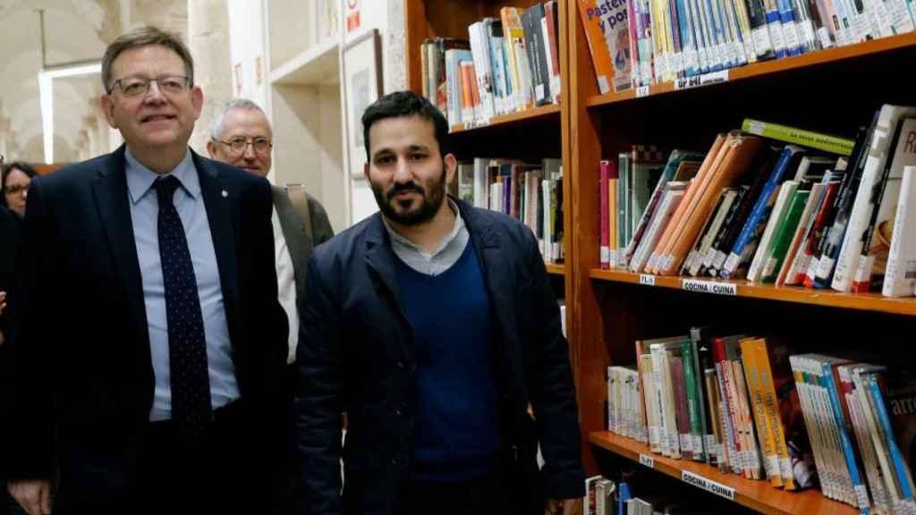 El presidente de la Generalitat, Ximo Puig, junto con el conseller de Educación, Vicent Marzà.