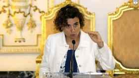 La ministra de Sanidad, Dolors Montserrat, durante una visita reciente a Ceuta.