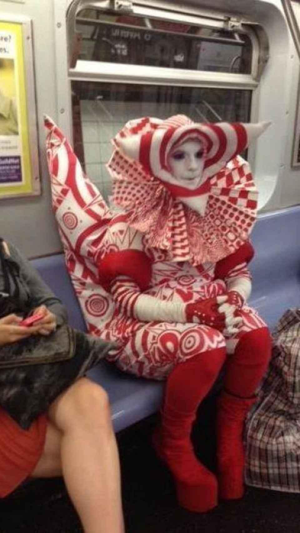 Otro disfraz en el metro de NYC