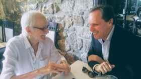 Antonio Escohotado y Daniel Lacalle, durante las conversaciones que sostuvieron hace unas semanas.