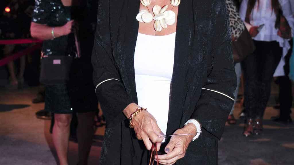 Ana Botella, a su llegada a la gala Starlite de Marbella este miércoles por la noche.
