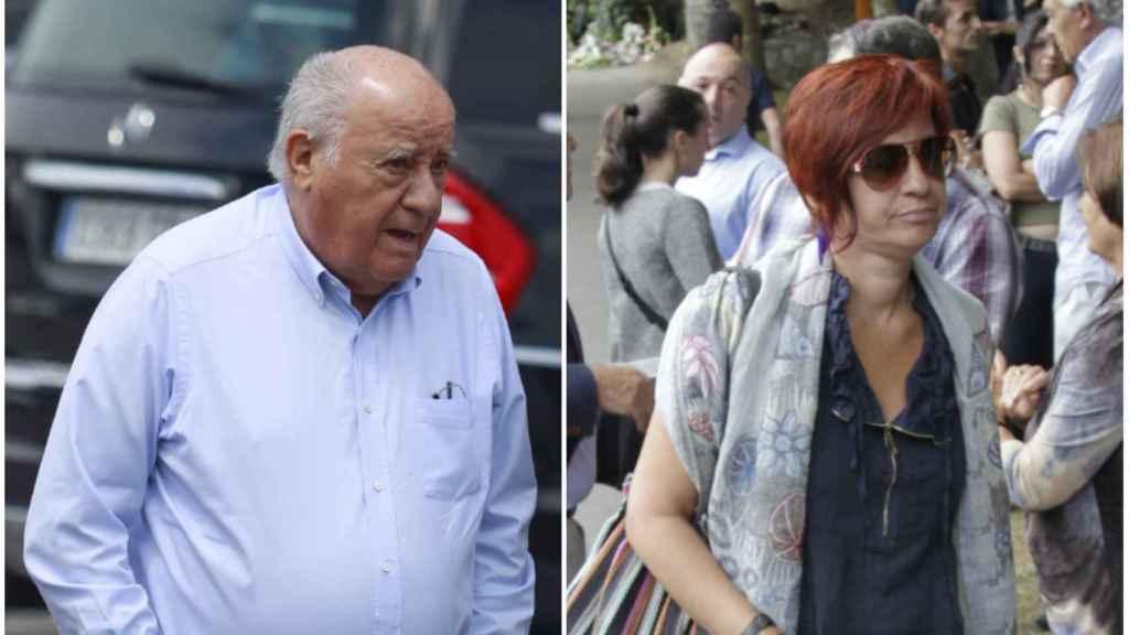 Sandra Ortega, la verdadera heredera del Imperio Inditex, junto a su padre.