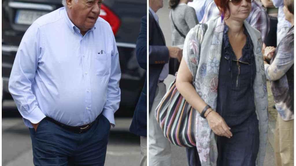 Sandra Ortega y Amancio Ortega en un montaje de JALEOS.
