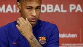 Neymar, en un acto con el Barcelona hace unos días.