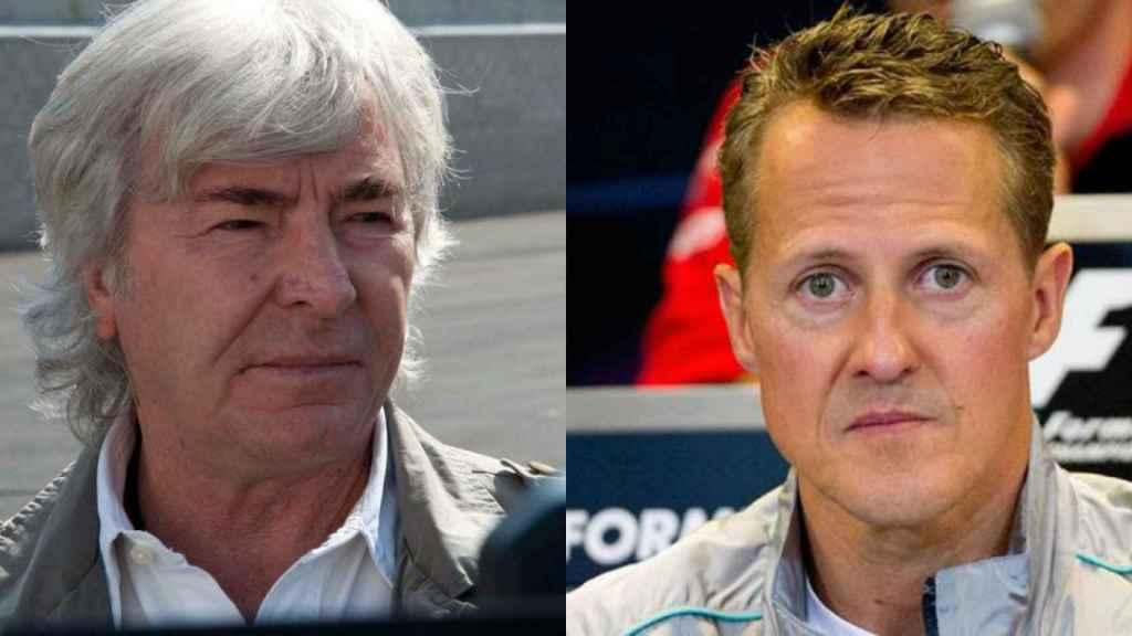 El piloto de motos Ángel Nieto y el de coches Michael Schumacher.
