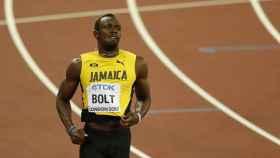 Usain Bolt, durante una carrera de los 100 metros lisos