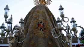 La virgen de Nuestra Señora de África patrona de la Ciudad de Ceuta en procesión el 5 de agosto.